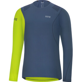 GORE WEAR R7 Camiseta de manga larga Hombre, deep water blue/citrus green